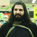 "Kayvan Novak in a scene from ""What We Do in the Shadows"""
