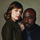 "Katja Herbers and Mike Colter co-stars of ""Evil"""