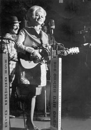 Dolly Parton at the Grand Ole Opry in 1969