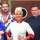 """Chefs Anne Burrell and Tyler Florence and recruits from """"Worst Cooks in America"""""""