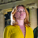 "Florence Pugh and Alexander Skarsgård in ""The Little Drummer Girl"""