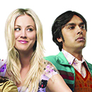 "Kaley Cuoco and Kunal Nayyar star in ""The Big Bang Theory"""