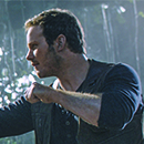 "Chris Pratt in a scene from ""Jurassic World: Fallen Kingdom"""