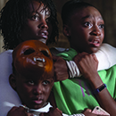 "Evan Alex, Lupita Nyong'o and Shahadi Wright Joseph in a scene from ""Us"""